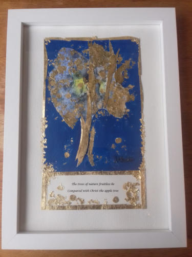 Framed Jesus Christ the apple tree. December 2019
